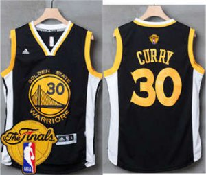 Top Quality Warriors #30 Stephen Curry Black White The Finals Patch Stitched Jersey XSK1844