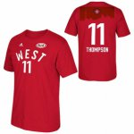 Unique Golden State Warriors 2016 All Merchandise Star Klay Thompson 11 Western Red T shirt MBJ303