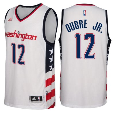 for wholesale Washington Wizards #12 Gear Kelly Oubre Jr. 2016 17 Stars & Stripes White Alternate Swingman UFK4176