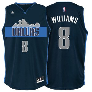 Assorted colors Dallas Mavericks #8 Deron Williams Cityscape Navy Clothing Blue Alternate GDW1273