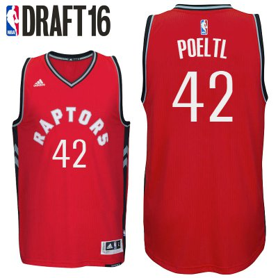 Beautiful 2016 Draft Apparel Toronto Raptors #42 Jakob Poeltl Road Red Swingman EBG3873