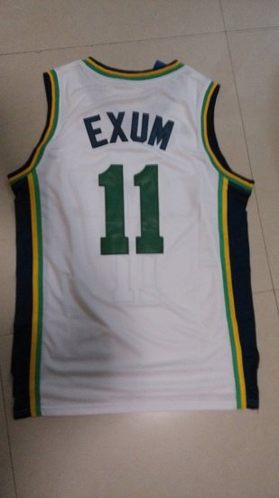 new product 9ec78 daca8 Beautiful Apparel Dante Exum White Utah Jazz 11 White ...