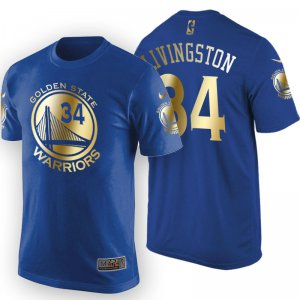 Buy Cheap 2017 Finals Champions Golden State Warriors #34 Shaun Livingston Gold Royal T Shirt Clothing GPL1551