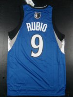 Buy Cheap Youth Minnesota Clothing Timberwolves Ricky Rubio #9 Road Blue Replica GSP2090
