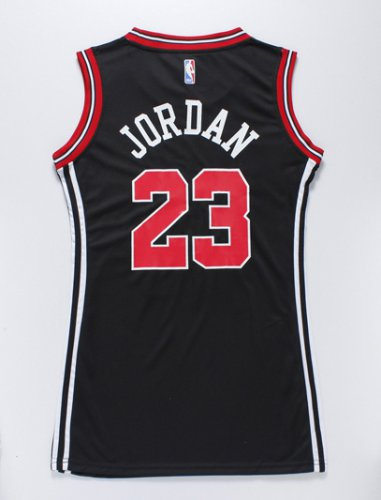 Buy cheap Women Clothing Chicago Bulls 23 Michael Jordan Black dress AZL4264