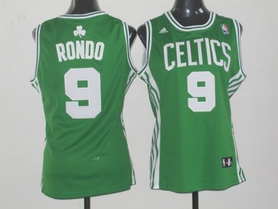Cheap Online 2018 Women Boston Celtics 9 Rajon Rondo Green Swingman Merchandise IHZ4369