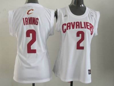 Cheap Sale 2015 Women Cleveland Jersey Cavaliers Irving #2 White Rev30 CSA4247