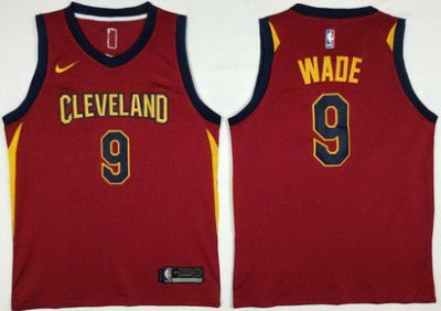 Cheap with Nike Cleveland Cavaliers #9 Dwyane NBA Wade 2017 18 Season Red MEX1021