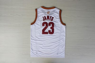 Cheaper LeBron James Rev 30 STITCHED 23 Cleveland Clothing Cavaliers WHITE NIS1166