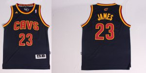 Cheaper Lebron James Cleveland Apparel Cavaliers navy blue #23 MDV1218