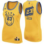 Exactly Fit Women's 2017 Mother's Day Golden State Basketball Warriors #23 Draymond Green The City Gold Swingman SOJ4225