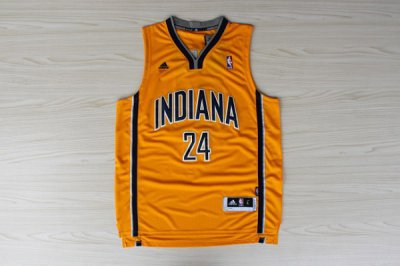 Fashionable Indiana Basketball Pacer Paul George Pacers #24 Yellow FOG2015