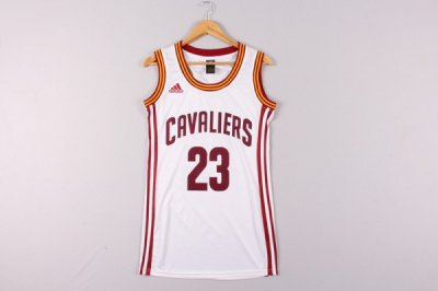 Fashionable Women Cleveland Cavaliers 23 LeBron James Basketball white Dress YBA4337