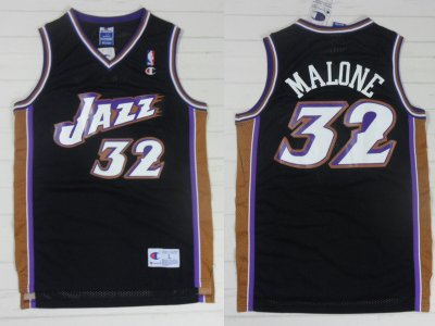 Hot 2018 Utah Jazz Basketball 32 Karl Malone Rev30 Swingman Throwback Black EYH4149