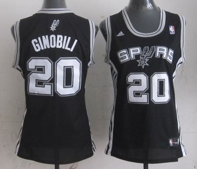Hot Cheap Sale Women's Spurs Manu Ginobili #20 Jersey Replica UMG4425