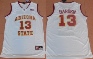 Latest style Men's Arizona State #13 James Harden White College Gear Basketball MWV1912