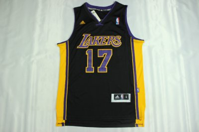 Lowest Price Lakers 17 Hollywood Nights Jerseys Black CWC2484