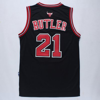 New Arrival Jimmy Butler Swingman Men's Black NBA BOB785
