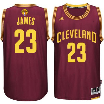 New Style Cleveland Cavaliers #23 LeBron James 2016 The Finals Jerseys Patch Red AKA279