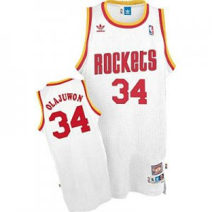 New trend Houston Rockets #34 Hakeem Olajuwon Soul Swingman Apparel Home White BCS1927