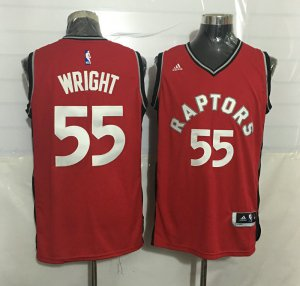 Newest Designed #55 Wright Toronto Raptors red Gear PDE3944