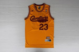 Newest Lebron James Cleveland Cavaliers Clothing Retro yellow #23 KCC1204