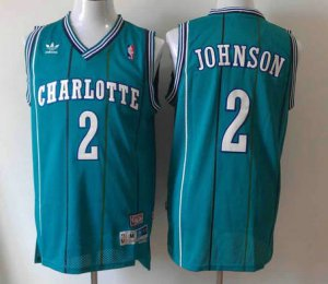 Online Charlotte Hornets #2 Apparel Larry Johnson Green IQC634