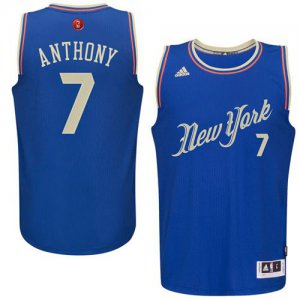 Online Cheap Clothing Knicks #7 Carmelo Anthony Blue 2015 2016 Christmas Day Stitched QON997
