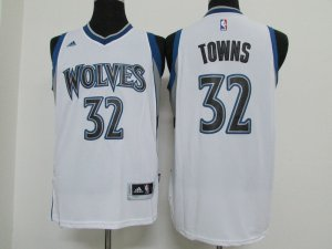 Online Shopping Minnesota Gear Timberwolves #32 Towns white LOO2866