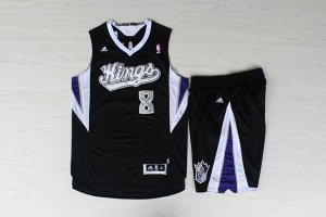Online Shopping Sacramento Kings #8 Rudy Gay Black Clothing With Shorts Suit ZQR4533