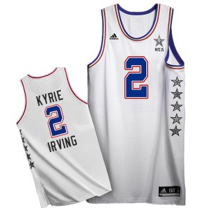 Online sales 2015 All Star NYC Eastern Conference Basketball #2 Kyrie Irving White EMC158