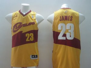 Shop Discount Cleveland Cavaliers 23 Gear LeBron James Yellow ZCS1202
