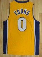 Top Quality Los Angeles Lakers #0 Nick Merchandise Yong Yellow ETG2461