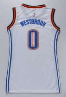 Top Quality Women Oklahoma City Thunder 0 WESTBROOK Apparel White dress AFK4258