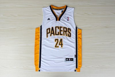 Wholesale Indiana Jersey Pacer Paul George Pacers #24 White LEE2014