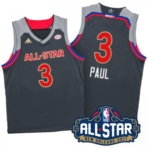 internet sale 2017 Orleans All Star Western Conference Clippers #3 Chris Paul Basketball Charcoal HBG339