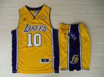 2018 Cheap Revolution 30 Shorts Los Jerseys Angeles Lakers #10 Steve Nash Swingman Yellow Home Rev Basketball Suits PZW4527