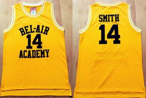 Best Bel Air Academy #14 Smith Gold Jersey Stitched Basketball FOV1454