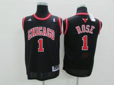 Big Discount Youth Chicago Bulls Jerseys Derrick Rose Black UOF2082