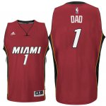 Cheap Sale Father's Day Gift Clothing Miami Heat #1 Dad Logo Road Red Swingman RIM2629