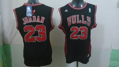 Cheap Sale Women Jersey Chicago Bulls 23 Michael Jordan Black SQQ4343