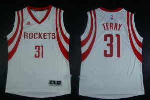 Exquisite appearance Apparel Revolution 30 Rockets #31 Jason Terry White Road Stitched LWN1922