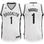 Fashion Brooklyn Nets Clothing #1 D'Angelo Russell 2017 18 Home White Swingman ZOB541