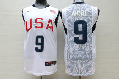 Find Quality Products Apparel #9 Wade 2008 Olympic USA Team white ZKY4021