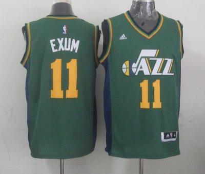 Full of charm Mens Utah Jazz Gordon 11 exum green 2014 15 Gear Swingman YKV4133
