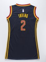 Guarantee Quality Women Cleveland Cavaliers 2 IRVING Blue Apparel dress NWI4278