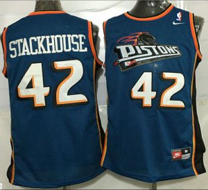 Hot 2017 Gear Pistons #4 Joe Dumars Blue Throwback Stitched WAC1416