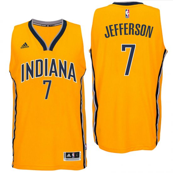 c467e5a33 Hot Deal Clothing Indiana Pacers  7 Al Jefferson 2016 Alternate Gold  Swingman IRY2002