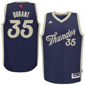 Hot Deal Thunder #35 Kevin Durant Navy Blue 2015 2016 Christmas Clothing Day Stitched YRQ1015