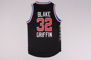 Hot Sale NBA 2015 All Star NYC Western Conference #32 Blake Griffin Black KGT171